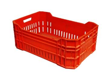 تصنيع-وتوريد-صندوق-بلاستيك-لنقل-الاسماك-لون-احمر